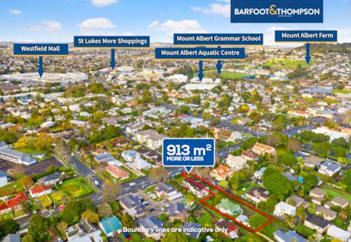 Mt Albert, 913m2, Location, Development Potential, Property ID: 793663 | Barfoot & Thompson