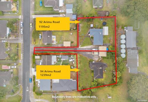 Papakura, Wow! Combined 2434M2 (more or less) Land In Urban Zone, Property ID: 806954 | Barfoot & Thompson