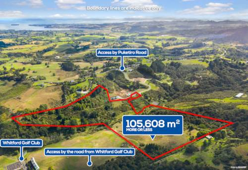 Whitford, 10.56 hec land, Country lifestyle, urban location, Property ID: 808776 | Barfoot & Thompson